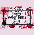 valentines day card - 2018 3 vector image vector image