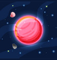 venus cartoon red and pink vector image