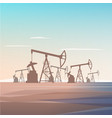 well drilling for oil extraction from depths earth vector image