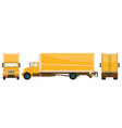 yellow big delivery truck vector image