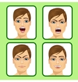 young man expressing different emotions vector image