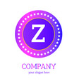 z letter logo design z icon colorful and modern vector image