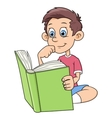 Boy is reading a book vector image