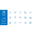 15 antenna icons vector image vector image