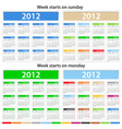 2012 calendars vector | Price: 1 Credit (USD $1)