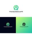 a letter mark modern logo design vector image