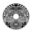abstract polynesian maori ethnic circle tattoo vector image vector image