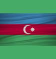 azerbaijan flag azerbaijan flag blowig in the vector image