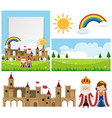 background template with king and queen vector image vector image