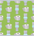 bath equipment toilet bowl clean bathroom flat vector image