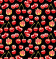 Beautiful seamless pattern with cherries vector image vector image