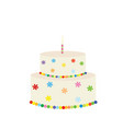 big colorful birthday cake vector image vector image