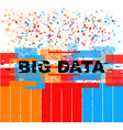 big data concept vector image vector image