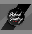 black friday sale elegant banner design vector image vector image