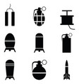 bomb icon set vector image vector image