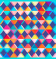 bright triangle seamless pattern with grunge vector image
