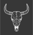 Bull skull native Americans tribal style Tattoo vector image vector image