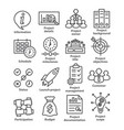 business management line icons pack 44 vector image vector image