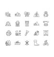 campsites line icons signs set outline vector image vector image