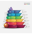 children pyramid for infographic vector image vector image