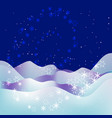 christmas and new year blue night background vector image