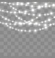 christmas lights effect vector image vector image
