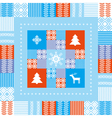 Christmas patchwork background vector image vector image