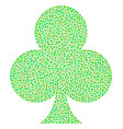 clubs suit composition of dots vector image vector image