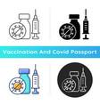 covid19 vaccination icon vector image vector image