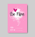 cute valentine day greeting card grunge design vector image