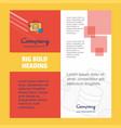 database briefcase company brochure title page vector image vector image