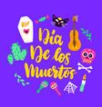 dia los muertos greeting card vector image