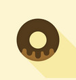 donut icon with long shadow vector image vector image