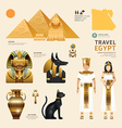 Egypt Flat Icons Design Travel Concept vector image vector image