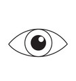 eye line icon isolated on white vector image