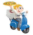 fast food pizza delivery vector image vector image