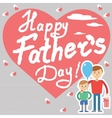 Father and son for father day vector image