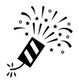firecracker black icon loud explosive firework vector image