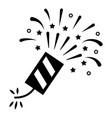 firecracker black icon loud explosive firework vector image vector image