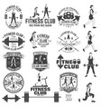 fitness club badges for fitness centers vector image vector image