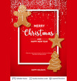 gingerbread cookies and text on red banner vector image