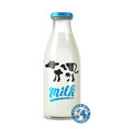 glass of milk vector image vector image
