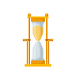 golden sand hourglass sandglass device for vector image