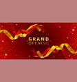 grand opening event poster with cut ribbons vector image