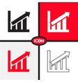 graph chart icon vector image vector image