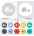 Home sign icon House for sale Broker symbol vector image vector image