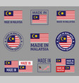made in malaysia icon set product labels of vector image