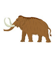 mammoth large extinct elephant of pleistocene vector image
