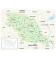 map missouri river basin usa united vector image vector image