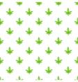 Marijuana leaf pattern cartoon style